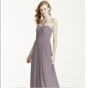 David Bridal Versa Mesh Convertible Gown